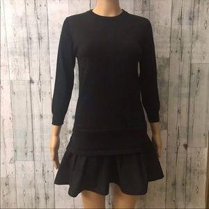 English factory poplin sweater dress